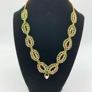 Woven Ovals Crystal Necklace